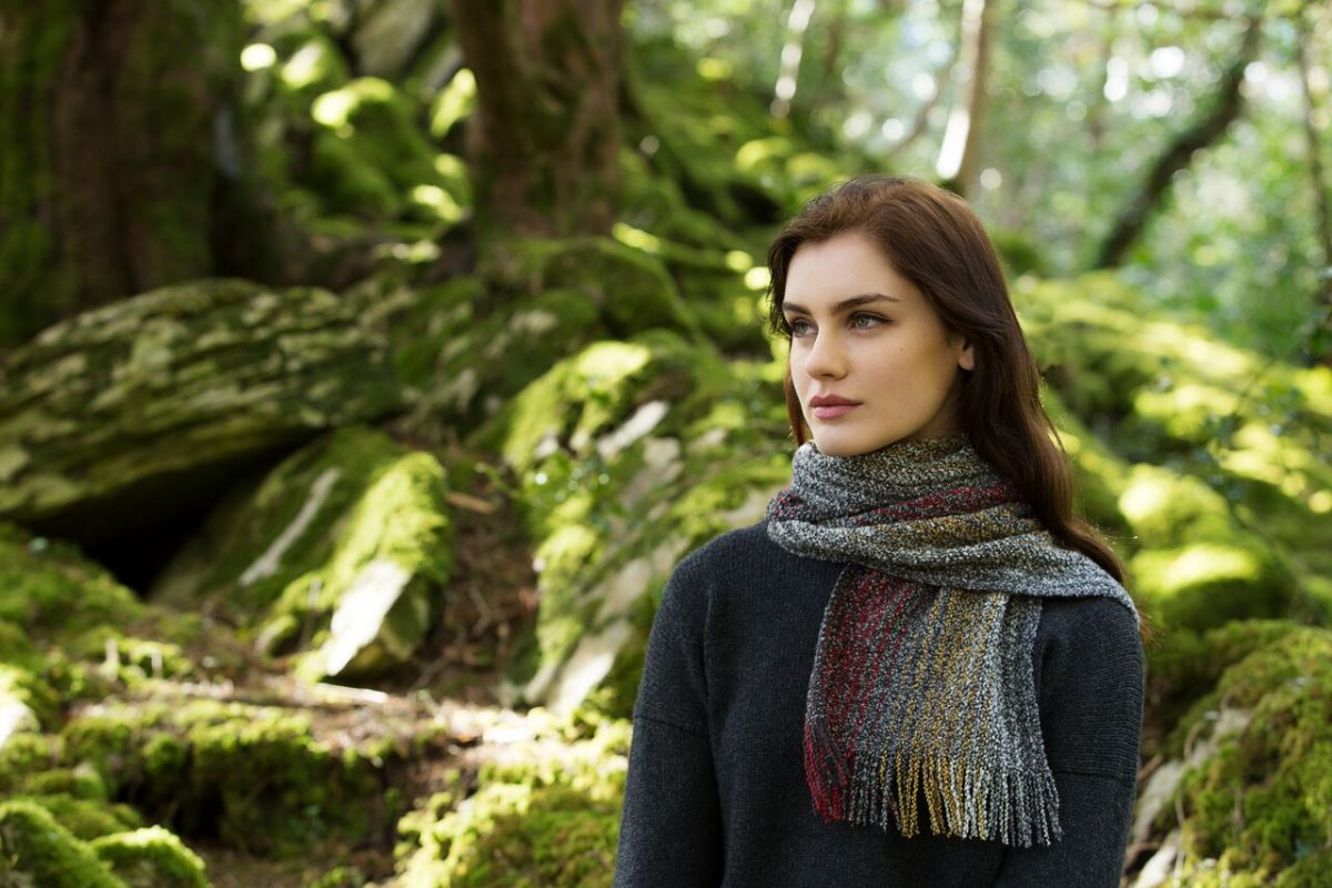 Dark Multicolour Skellig Scarf