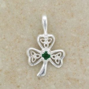 Emerald Trinity Shamrock Pendant