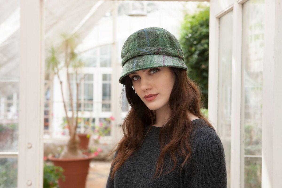 Flapper Hat Green Tartan