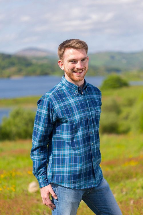 Fleece Lined Flannel Shirt Blue