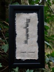 Cairdeas/Friendship - Single Ogham Blessing