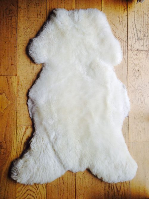 White Irish Sheepskin Rug