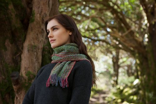 Green & Red Skellig Scarf