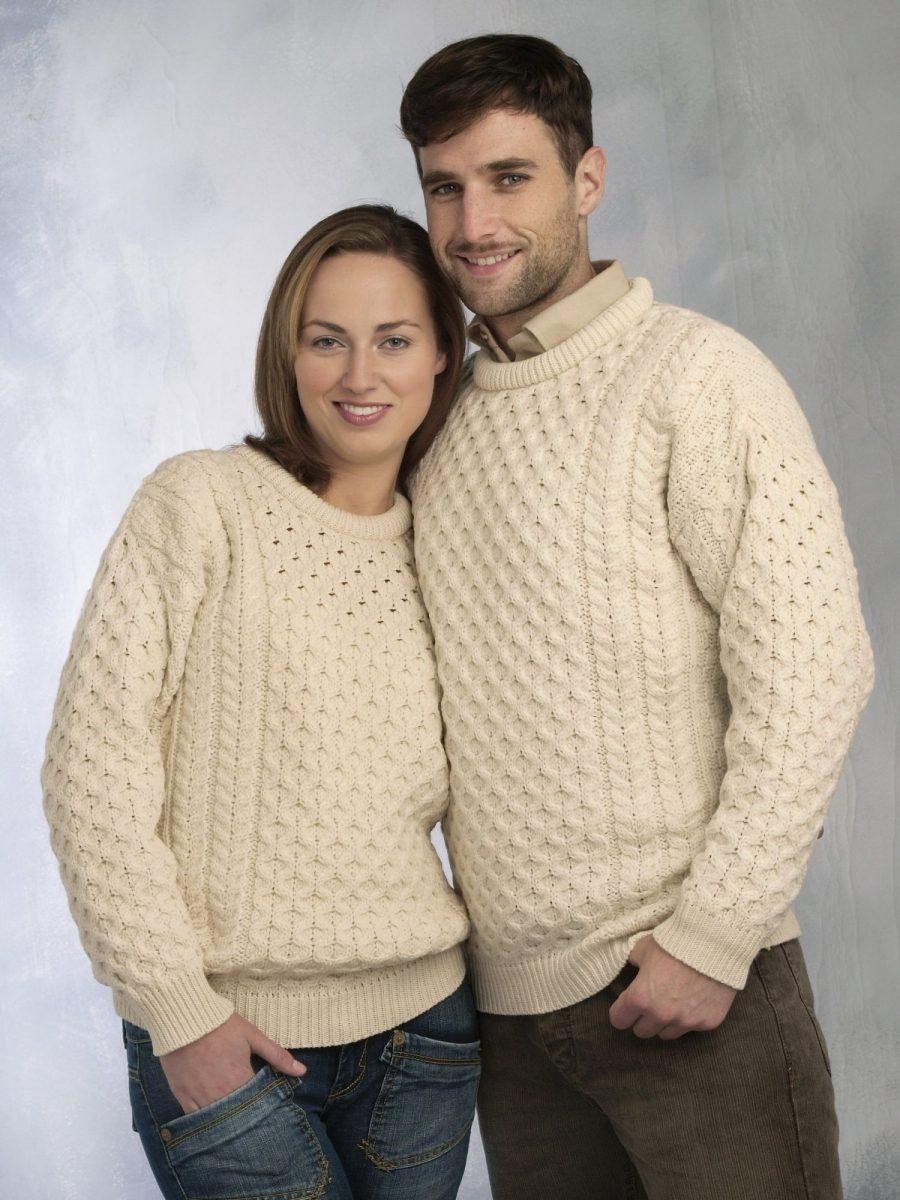 Crew Neck Aran Sweater