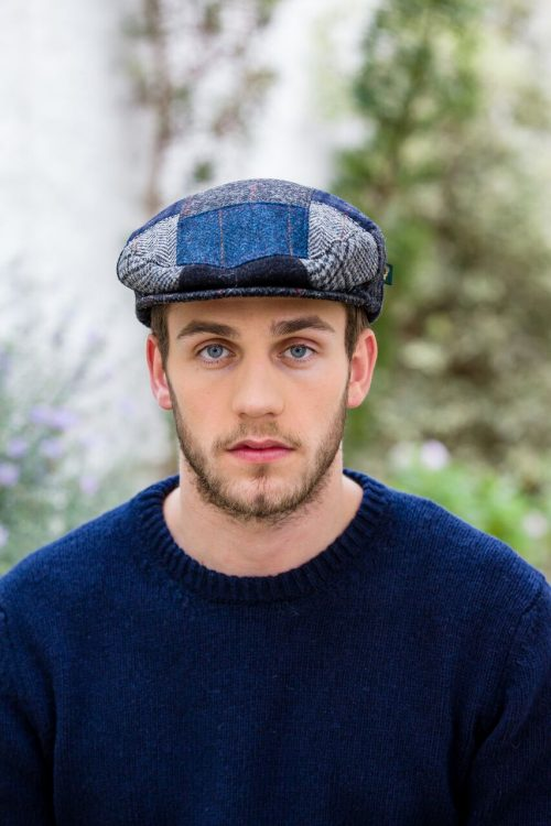 Mens Patchwork Cap Mixed C