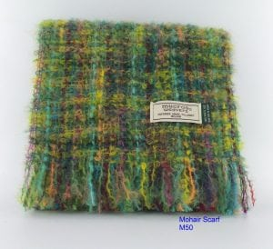 Green & Yellow Mohair Scarf