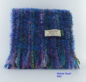 Blue & Pink Mohair Scarf