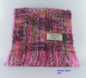 Pink & Yellow Mohair Scarf