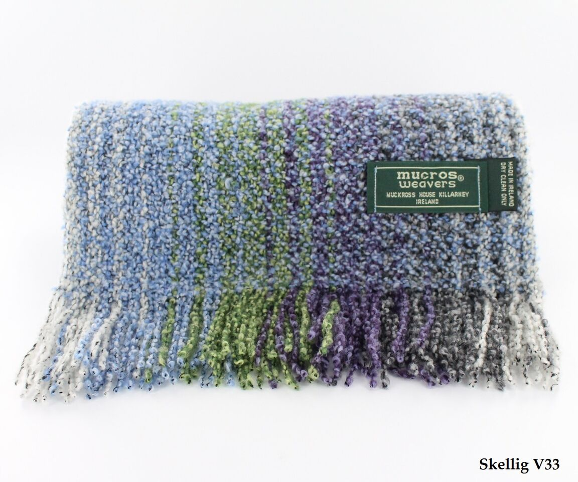 Purple & Green Skellig Scarf