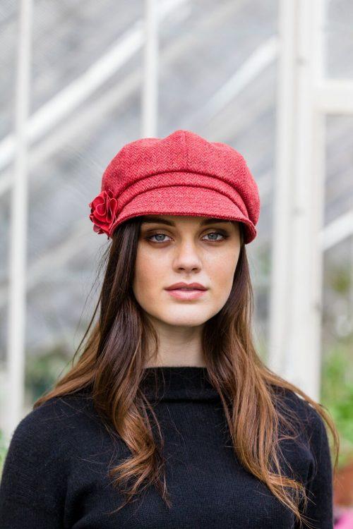 Red Newsboy Hat