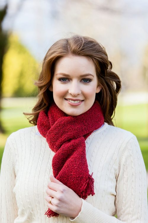 Red Skellig Scarf