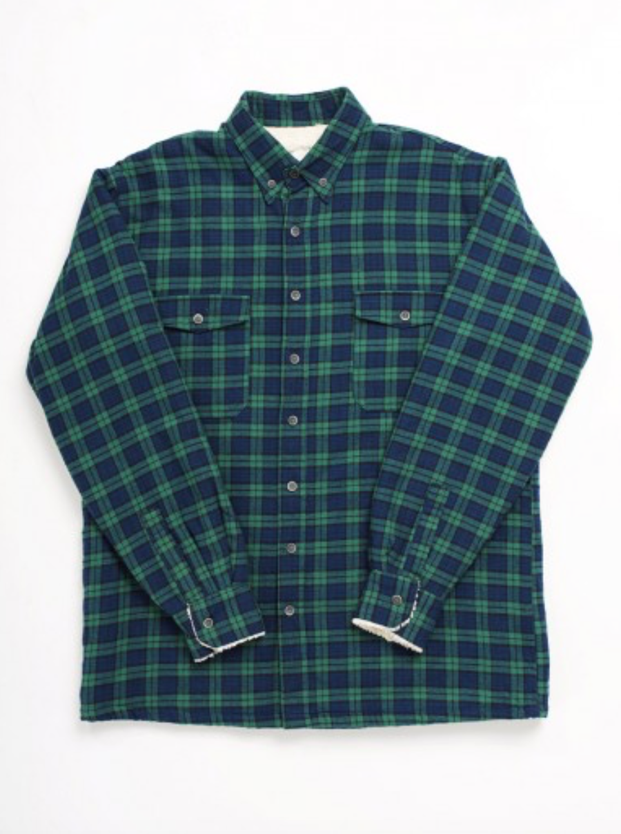 Blue & Green Fleece Lined Flannel Shirt