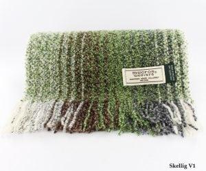 Green & White Skellig Scarf