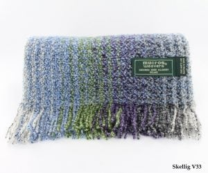 Mixed Blue & Green Skellig Scarf