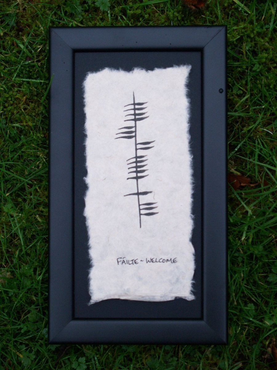 Fáilte/Welcome - Single Ogham Blessing