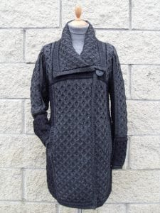 Single Button Plated Coat