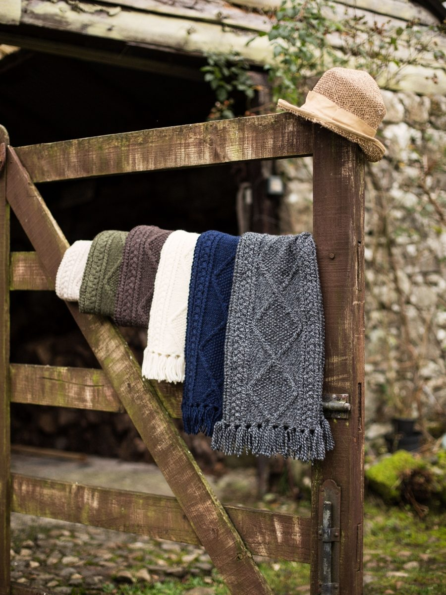 Traditional Handknitted Aran Scarf