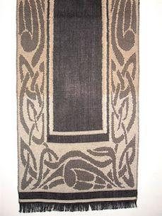 Black & Camel Celtic Design Scarf