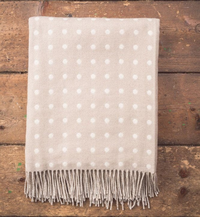 Bone Spot Lambswool Throw