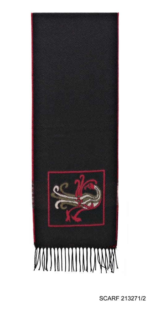 Celtic Design Irish Scarf Black