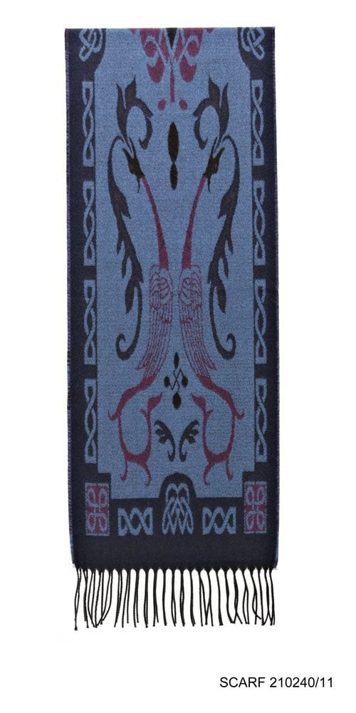 Celtic Design Irish Scarf Blue Tones