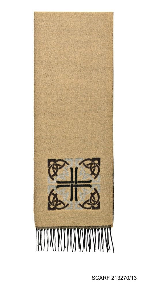 Celtic Design Irish Scarf Camel