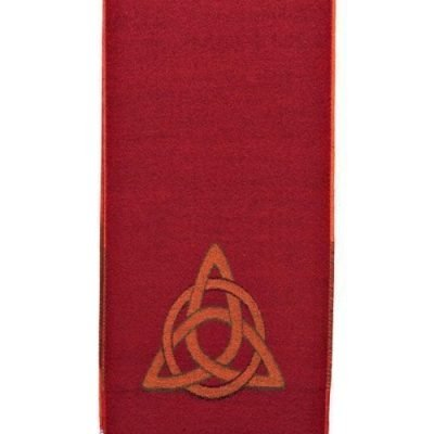 Celtic Design Irish Scarf Red
