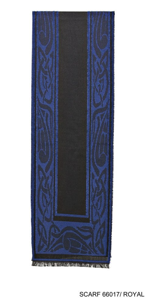 Celtic Design Irish Scarf Royal Blue
