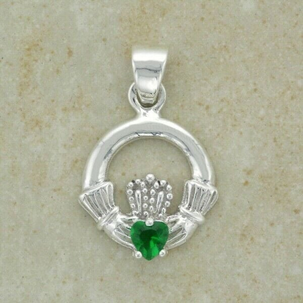 pendant silver claddagh necklace sterling product