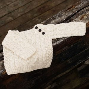 Hand Knitted Baby Aran Sweater