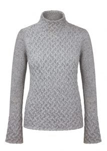 Irish Trellis Sweater Light Grey