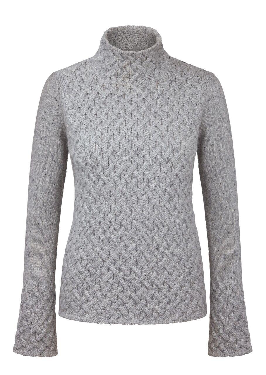 Irish Trellis Sweater Light Grey