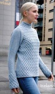 Irish Trellis Sweater Sky