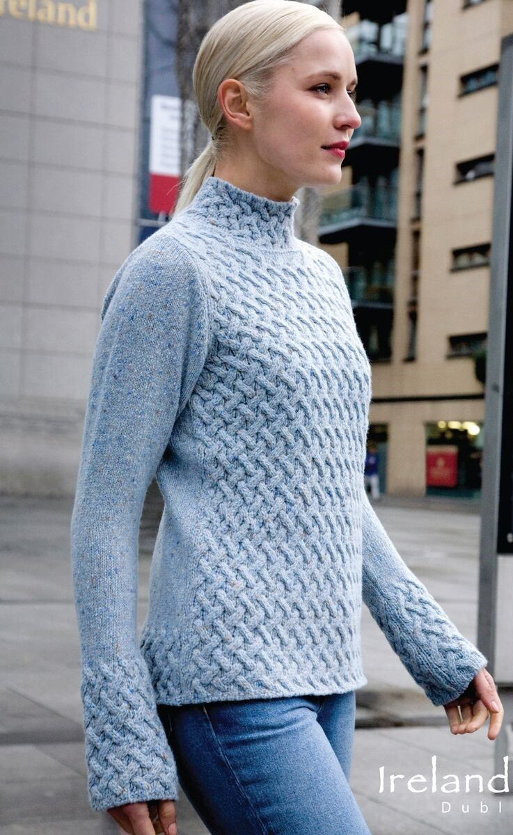 Irish Trellis Sweater Sky
