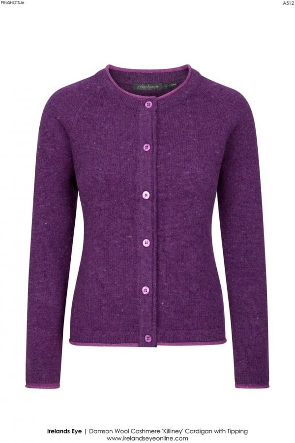 Killiney Cardigan Damson