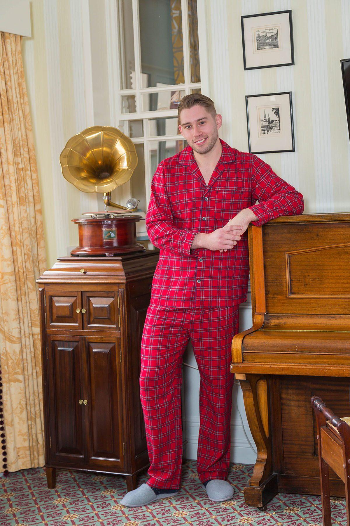 Mens Red Tartan Pajamas