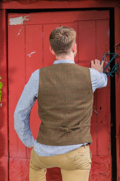 Moss Check Tweed Vest