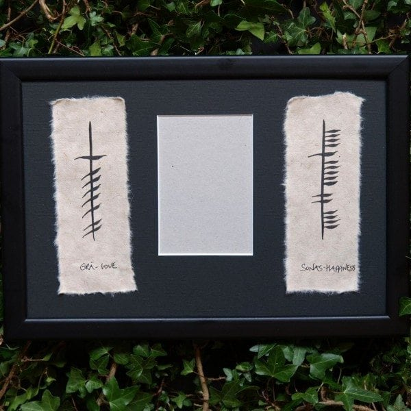 Ogham Love and Happiness Frame