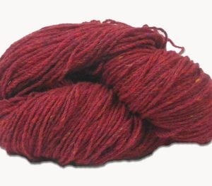 Raspberry Fleck Aran Wool