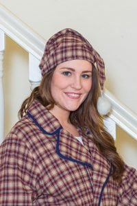 Red Check Flannel Nightcap