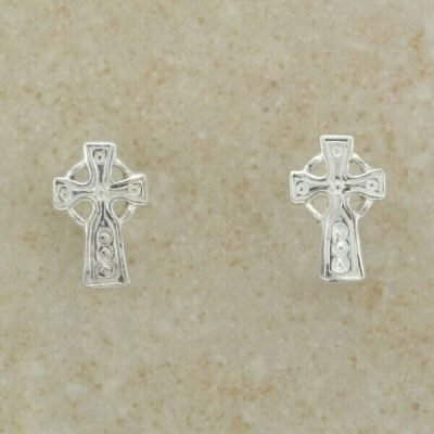Small Celtic Cross Earrings