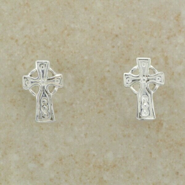Small Celtic Cross Earrings