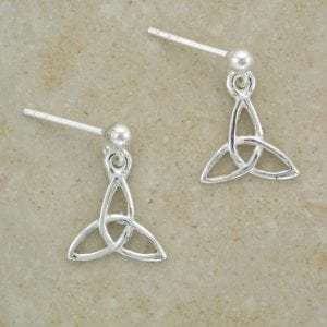 Celtic Trinity Earrings with Ball