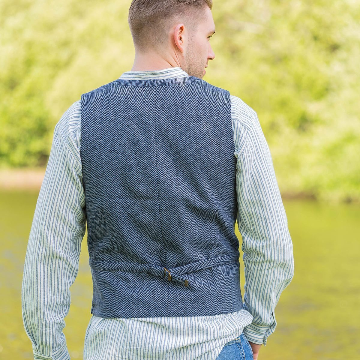 Tweed Dove Vest