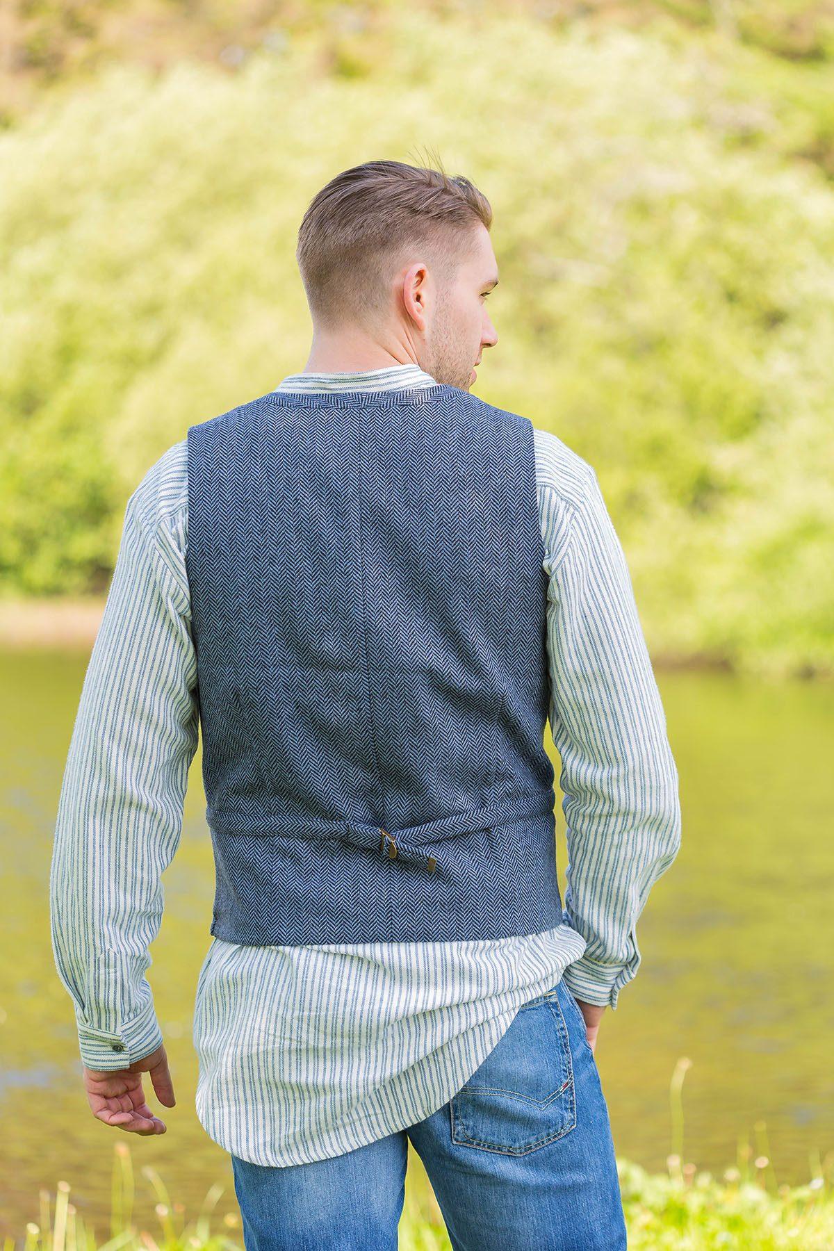 Tweed Dove Vest
