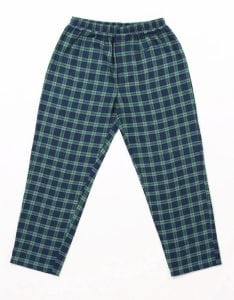 Ladies Green Tartan Flannel Pajamas 2