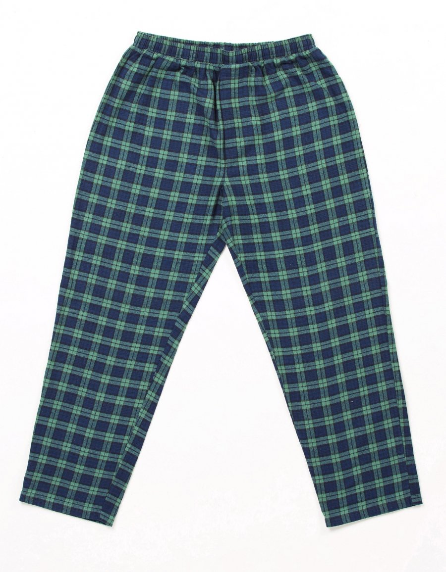 Ladies Green Tartan Flannel Pajamas 2