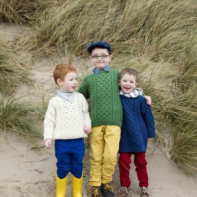 Kids Crew Neck Aran Sweaters