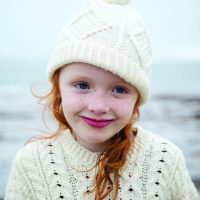 Kids Aran Ski Hat Natural