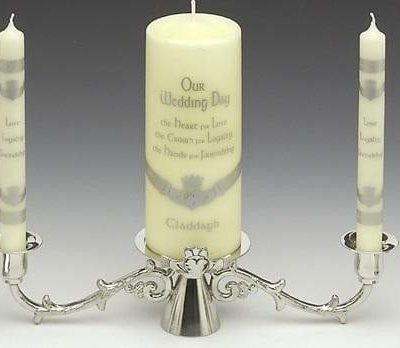 Claddagh Wedding Candlestick
